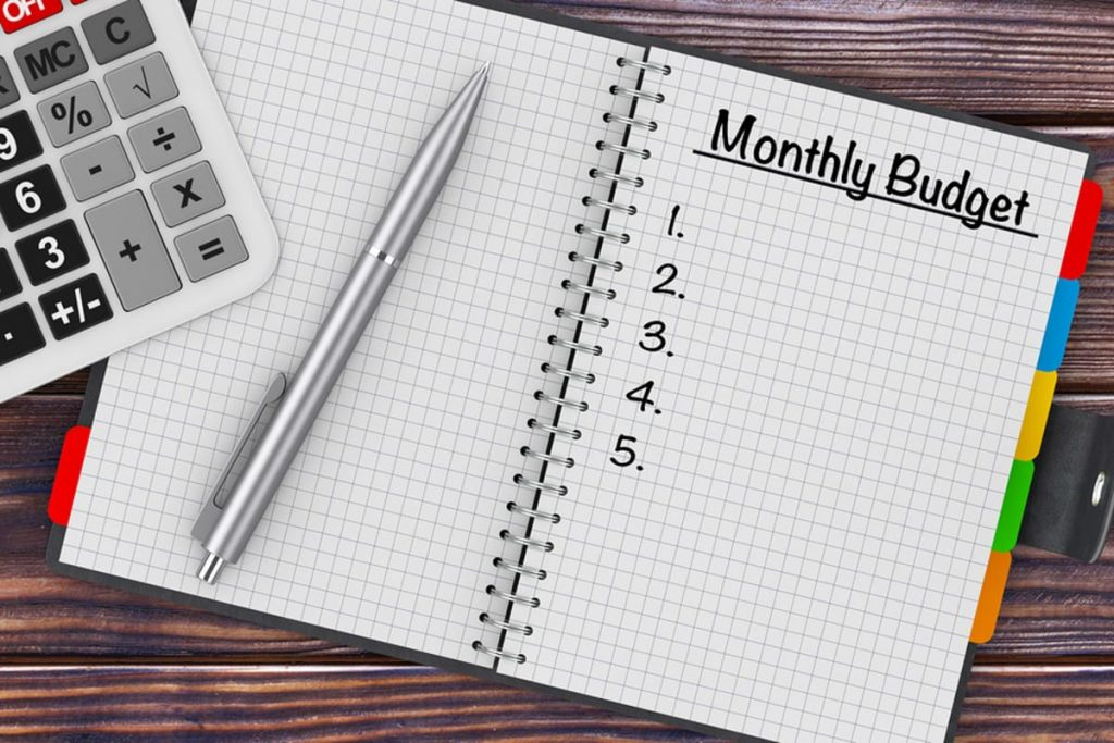 Get out of debt with help by creating a monthly budget
