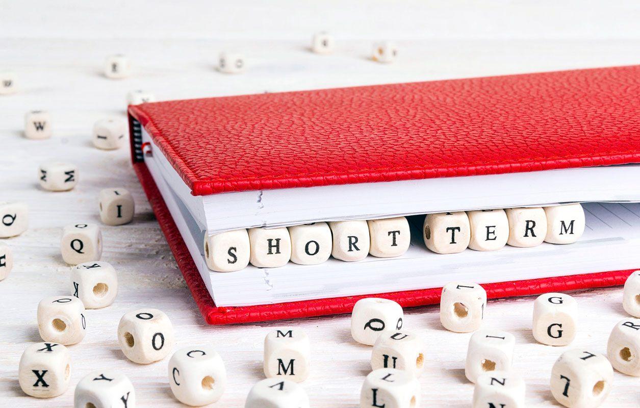 short term financial goals
